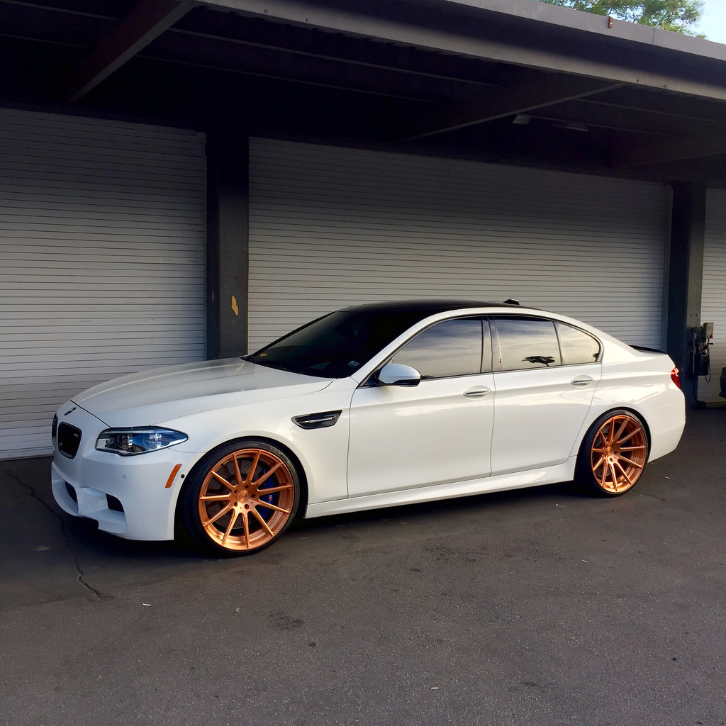 Bmw M5 F10 On Rose Gold Wheels Yup Page 2
