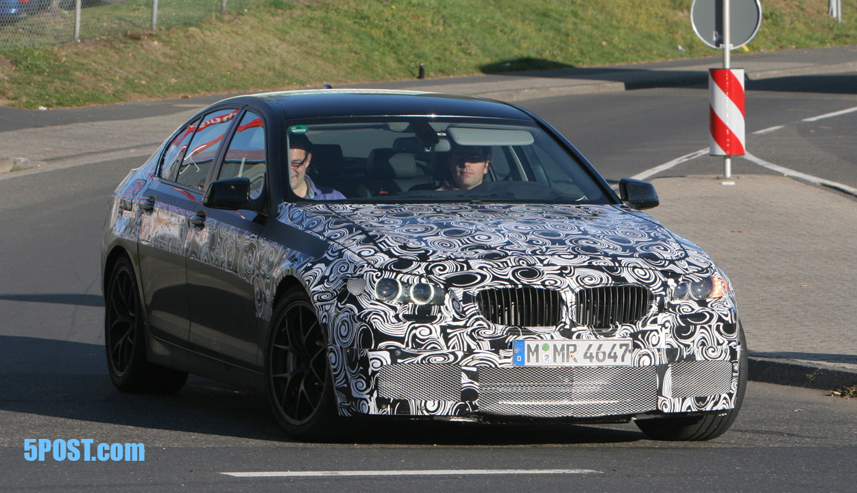 BMW F10 M5 caught without camoflage fatsuit for the first time (9/23/09)