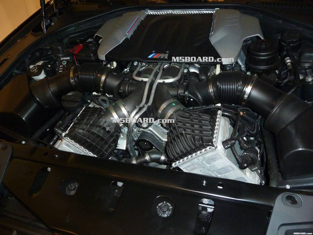 Photos Of The F10 M5 Twin Turbo V8 Engine Surface