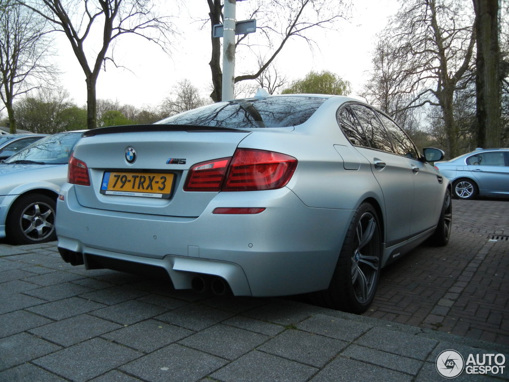 Frozen Silver M5 F10 Fitted With M Performance And Blacked Out Parts
