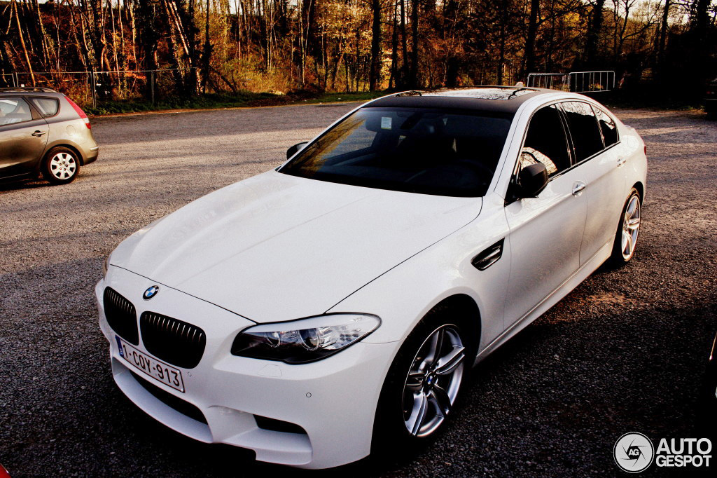 Alpine White M5 With Carbon Fiber Wrap Roof And Mirrors