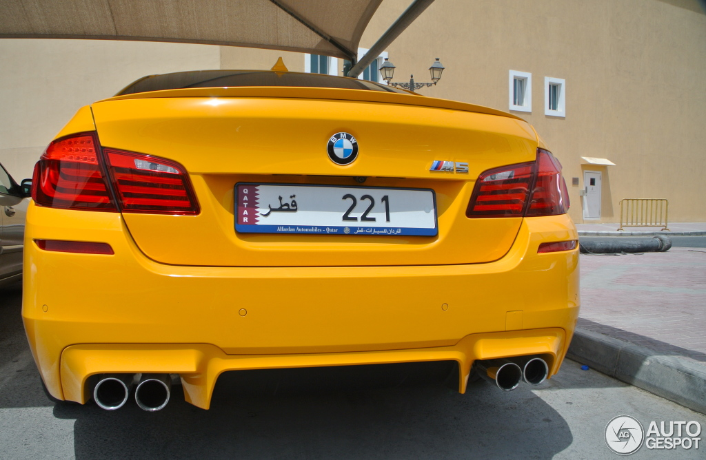 Bmw M5 In Individual Atacama Yellow